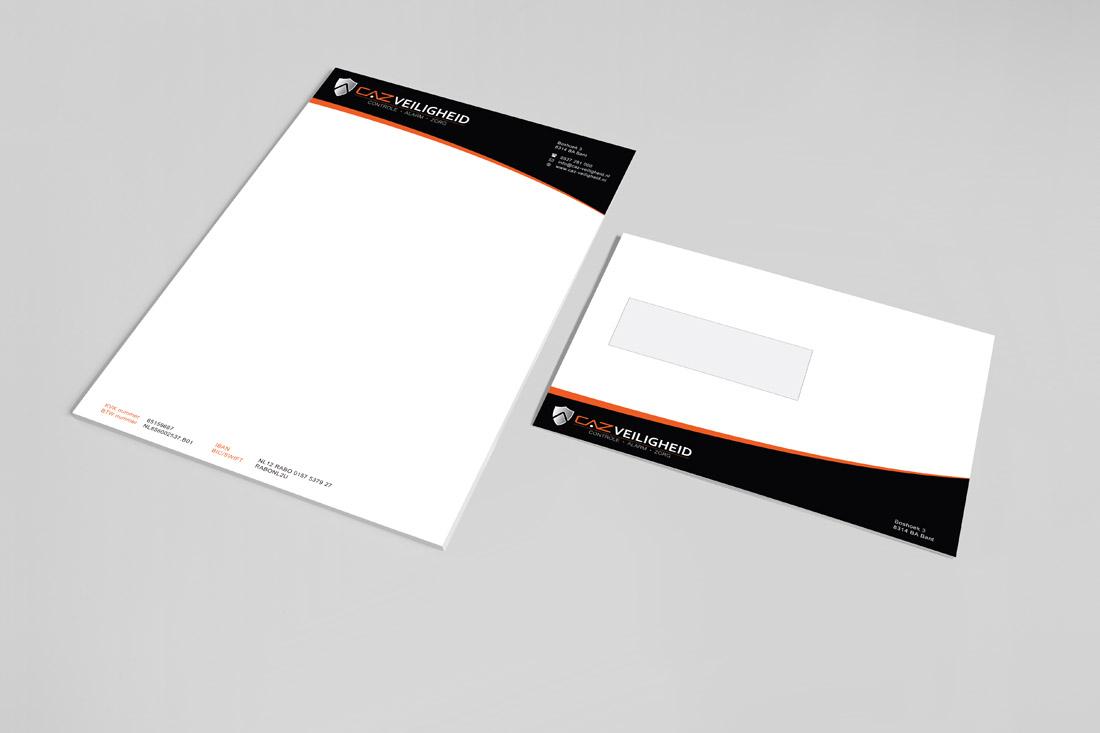 huisstijl-caz-veiligheid-briefpapier-envelop