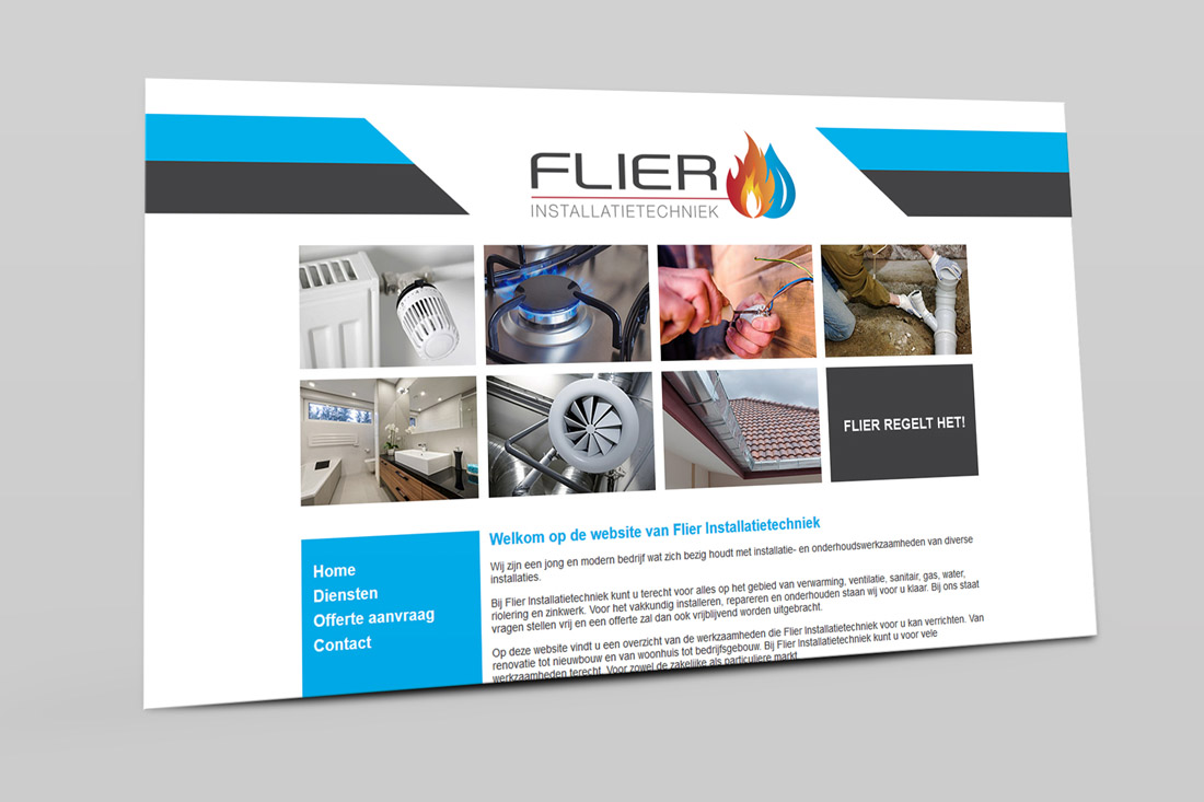 website-flier-installatietechniek